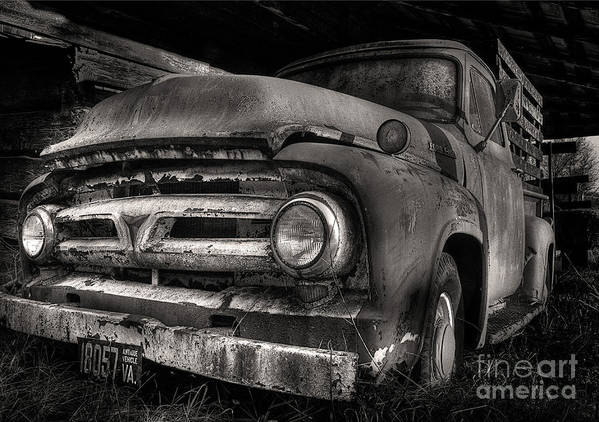 Scotopic Art Print featuring the photograph Scotopic Vision 6 - 53 Ford by Pete Hellmann