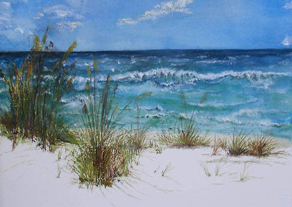 Sea Art Print featuring the painting Sea Study 08 by Sibby S