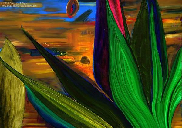 Landscape Art Print featuring the painting Seeds And Leaves I by Gregory Allen Page