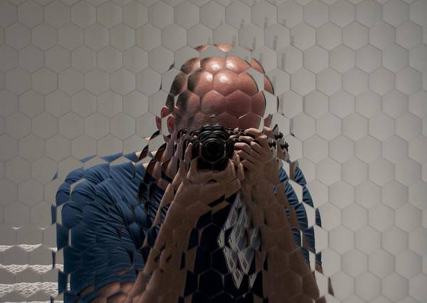 Mirrors Art Print featuring the photograph Self-portrait Through A Compound Eye by Gary Chapple