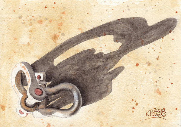Shackles Art Print featuring the painting Shackles With Five O Clock Shadow by Ken Powers