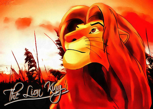 Simba The Lion King Art Print