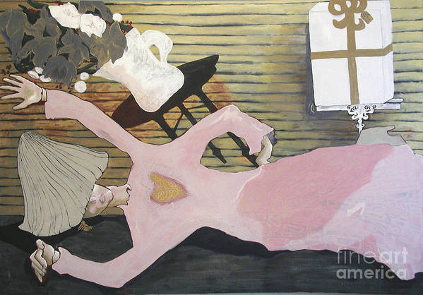 Girl Art Print featuring the painting So Close by Sarah Goodbread