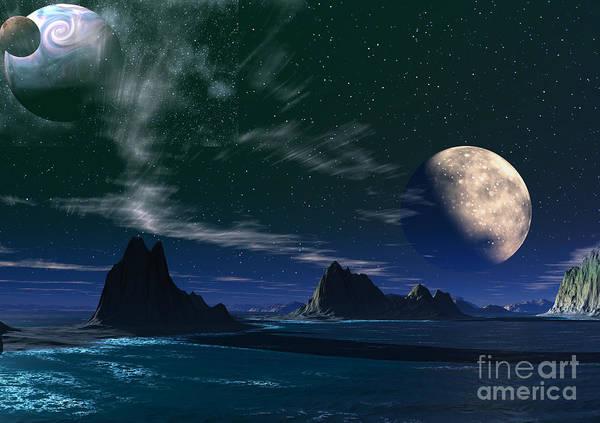 South Atlantic Ocean Art Print featuring the mixed media South Atlantic Ocean 2 by Heinz G Mielke
