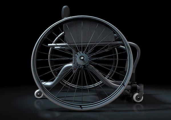 Wheelchair Art Print featuring the digital art Sports Wheelchair by Allan Swart
