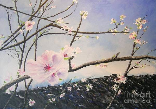 Flower Art Print featuring the painting Spring Is In The Air by Lizzy Forrester