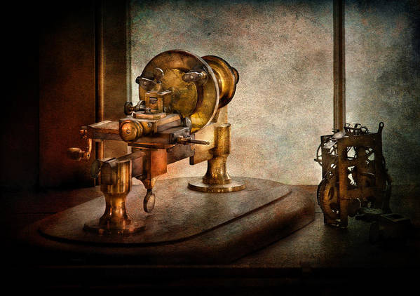 Hdr Art Print featuring the photograph Steampunk - Gear Technology by Mike Savad