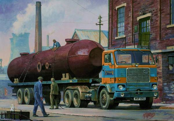 Commission A Painting Art Print featuring the painting Stillers Volvo F88 by Mike Jeffries