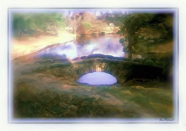 Garden Art Print featuring the photograph Stone Bridge by Jim Darnall