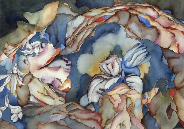Sealife Art Print featuring the painting Strange Horizons by Liduine Bekman