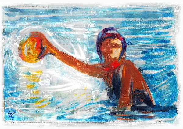 Water Sport Mixed Media Pixels