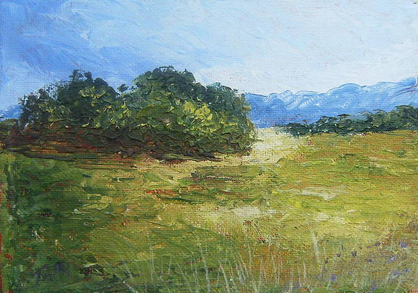 Art Print featuring the painting Summer Day by Tami Booher