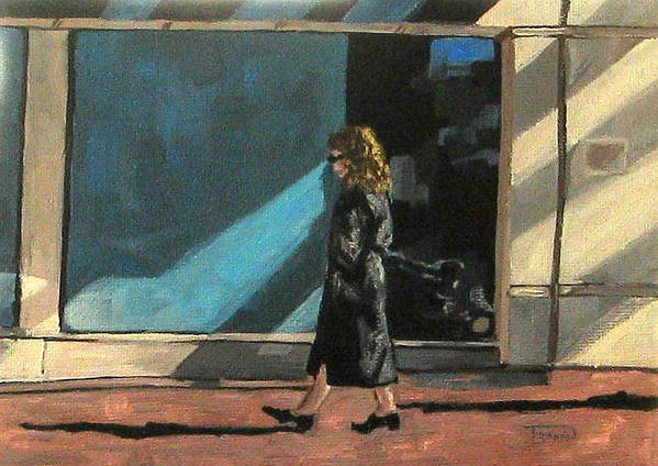Woman Art Print featuring the painting Sunlit City Stroll by Torrie Smiley