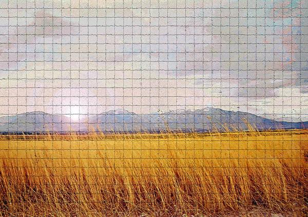 Sunrise Art Print featuring the photograph Sunrise Field 1 - Mosaic Tile Effect by Steve Ohlsen