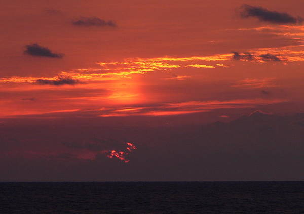 Sun Art Print featuring the photograph Sunrising Out Of Clouds by Tom LoPresti