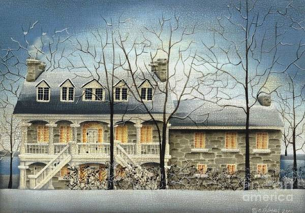 Art Art Print featuring the painting Symmes' Inn by Catherine Holman