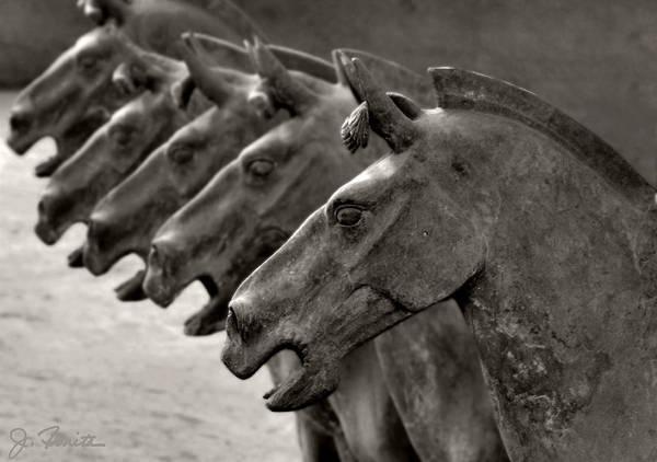 Terracotta Art Print featuring the photograph Terracotta Horses by Joe Bonita