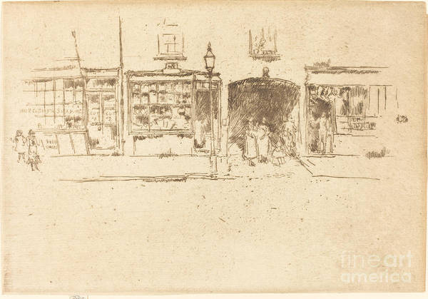 Art Print featuring the drawing The Barber's by James Mcneill Whistler