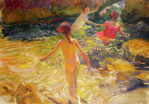 Painting Art Print featuring the painting The Bath - Javea by Mountain Dreams