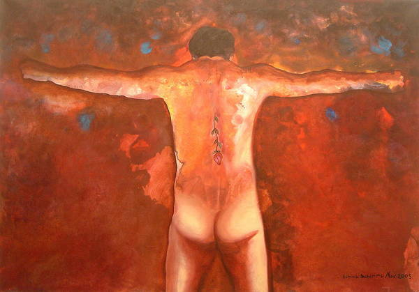 Figurative Art Print featuring the painting The Force by Erminia Schirru