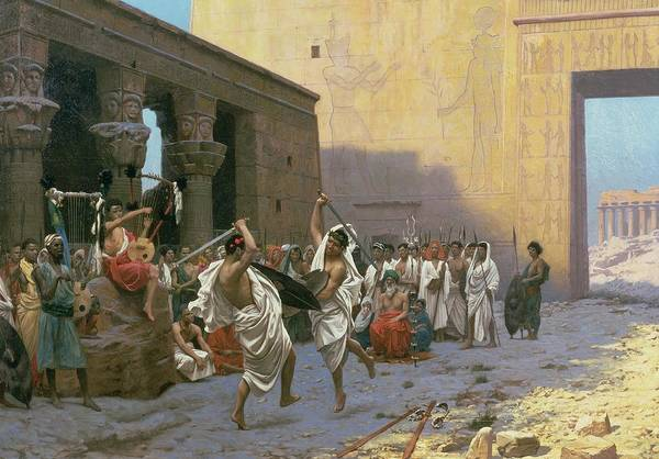 The Print featuring the painting The Sword Dance by Jean Leon Gerome