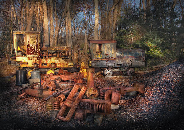 Savad Art Print featuring the photograph Train - Yard - Do It Yourself Kit by Mike Savad