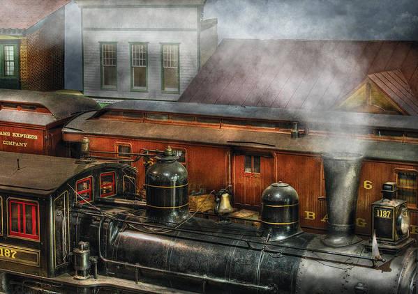 Savad Art Print featuring the photograph Train - Yard - The Train Yard II by Mike Savad