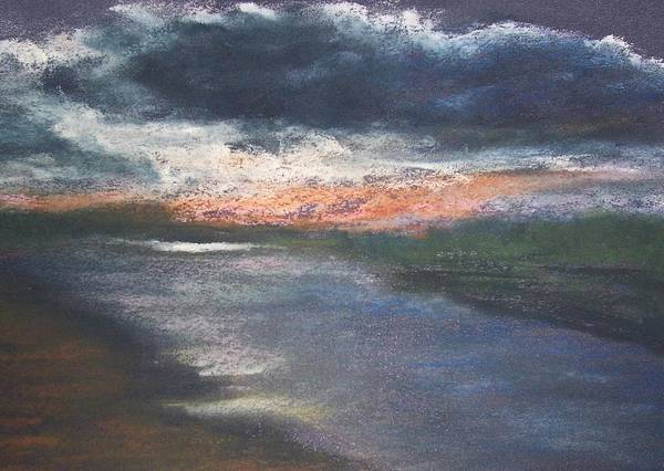 Sunset Art Print featuring the pastel Twilight On The Canal by Jackie Bush-Turner