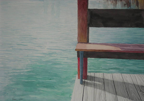 Waterscape Art Print featuring the drawing Water15 by Jeffrey Babine