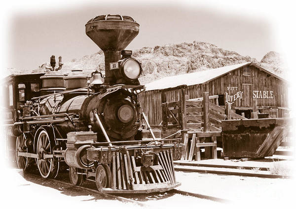 America Art Print featuring the photograph Western Train by Richard Allen