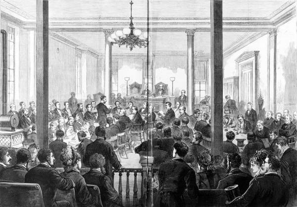 1876 Art Print featuring the photograph Whiskey Ring Trial, 1876 by Granger