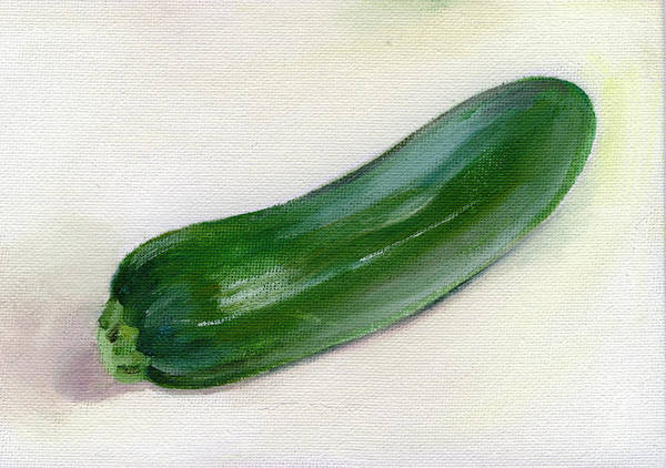 Food Art Print featuring the painting Zucchini by Sarah Lynch