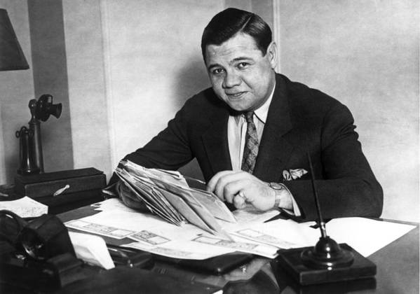 People Art Print featuring the photograph Babe Ruth by Hulton Archive