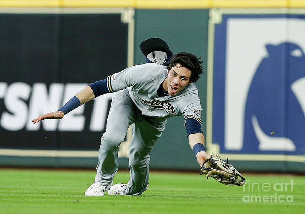 People Art Print featuring the photograph Milwaukee Brewers V Houston Astros 1 by Bob Levey