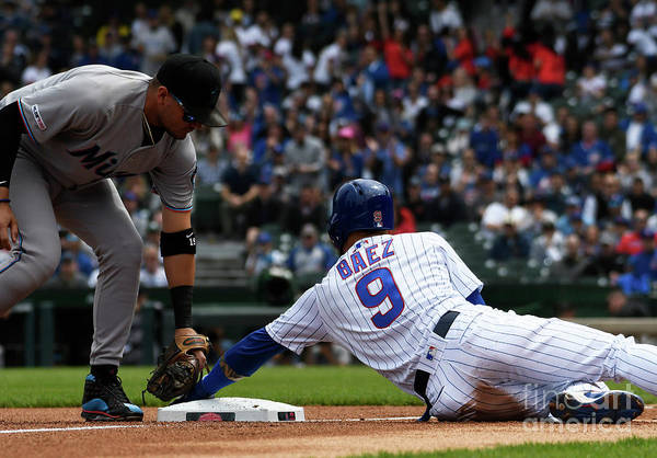 People Art Print featuring the photograph Miami Marlins V Chicago Cubs 4 by David Banks