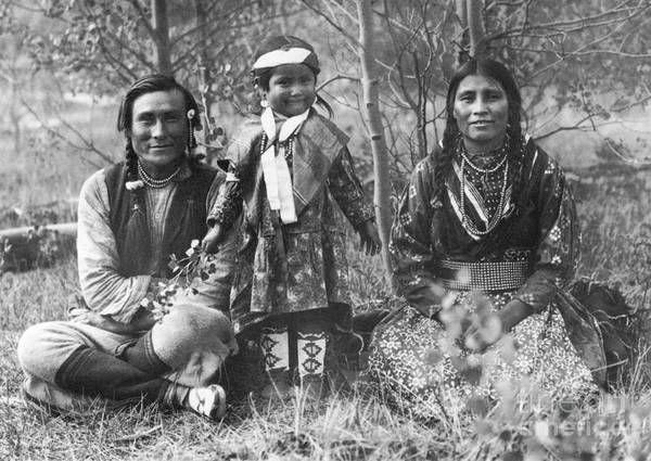 1907 Art Print featuring the photograph Blackfoot Family, 1907 by Mary TS Schaffer