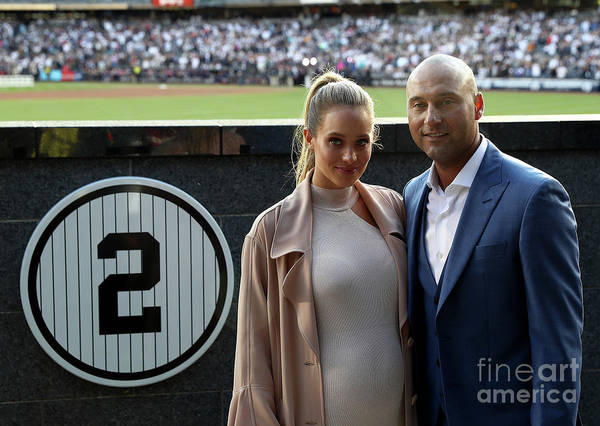 People Art Print featuring the photograph Derek Jeter Ceremony by Elsa