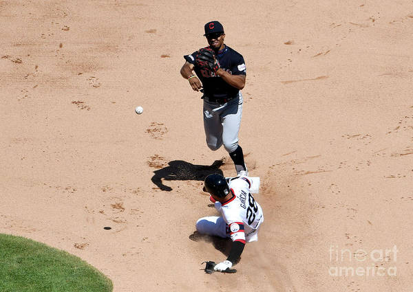 People Art Print featuring the photograph Francisco Lindor by David Banks