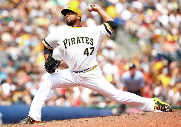 People Art Print featuring the photograph Francisco Liriano by Jared Wickerham
