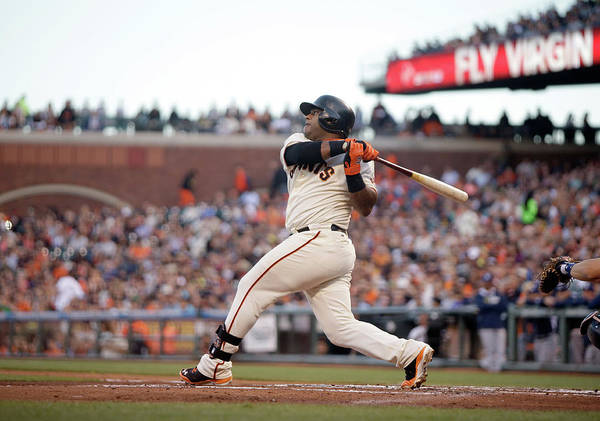 San Francisco Art Print featuring the photograph Pablo Sandoval by Ezra Shaw
