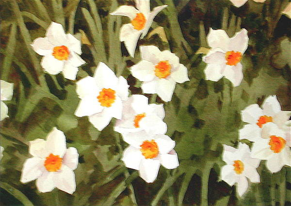 Spring Art Print featuring the painting Jonquills by Faye Ziegler