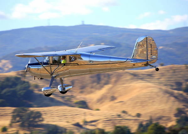 1947 Cessna 140 Fly-by N4151n Art Print featuring the photograph 1947 Cessna 140 Fly-by N4151n by John King