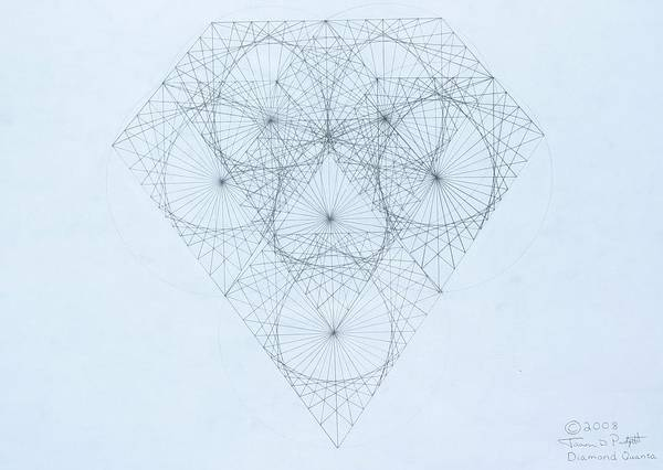 Jason Padgett Art Print featuring the drawing Diamond Quanta by Jason Padgett