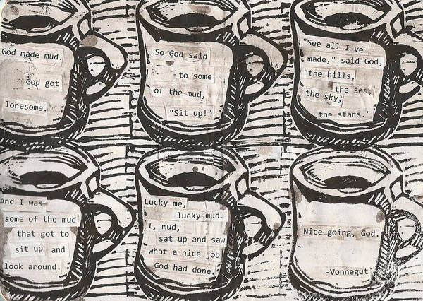 Java Art Print featuring the drawing Java by William Cauthern