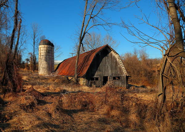 Barn Art Print featuring the photograph Paeonian Springs Barn by Scott Fracasso