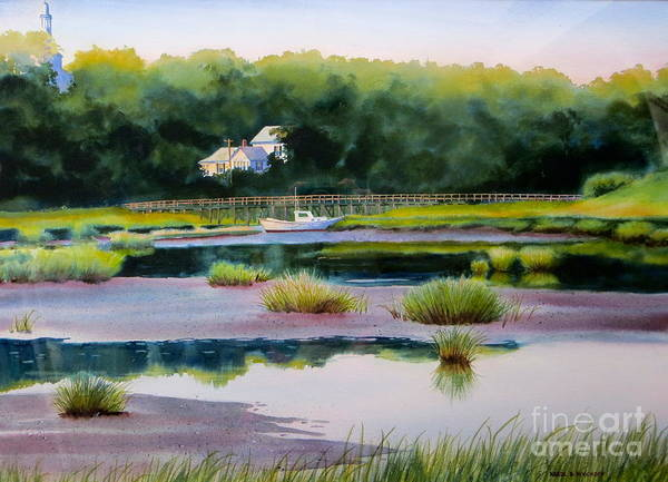 House Art Print featuring the painting Across Duck Creek by Karol Wyckoff