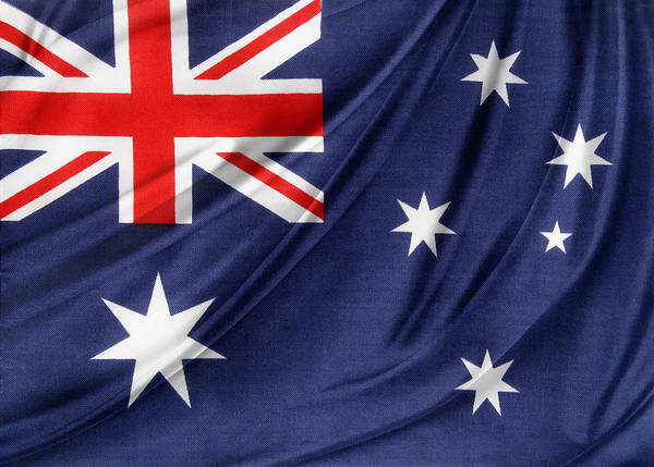 Banner Art Print featuring the photograph Australian Flag by Les Cunliffe