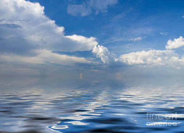 Beauty Art Print featuring the photograph beauty Clouds over Sea by Boon Mee