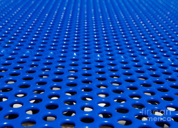 Abstract Art Print featuring the photograph Blue Grate by Robert Keenan