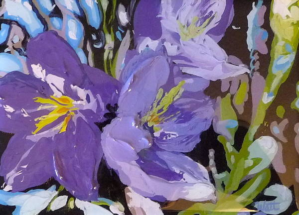 Flowers Art Print featuring the painting Bluebells by Tammy Watt